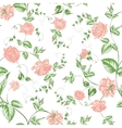Seamless texture of beautiful roses for textiles vector image vector image