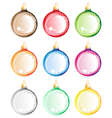 Christmas tree balls set vector image