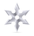 Shuriken vector image vector image