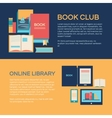 Banner template with books vector image