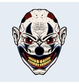 evil clown with red eyes vector image