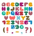 Flat Alphabet set vector image