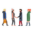 friends and people icons set vector image