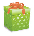 green gift box isolated on white background vector image