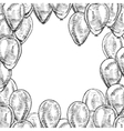 Hand drawn frame of balloons vector image