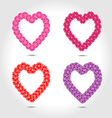 Hearts with flower vector image