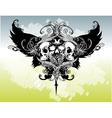 legion of skulls illustration vector image