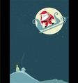 santa before parachute jump vector image