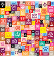 seamless background made of education icons vector image