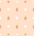 Strawberry pink and peach color seamless pattern vector image