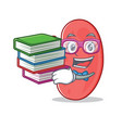 student with book kidney mascot cartoon style vector image