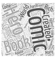 Creating your own comic book hero Word Cloud vector image