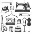 vintage tailor elements set vector image