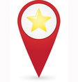 GPS marker with favourites icon vector image