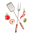 BBQ barbecue grilling vector image vector image