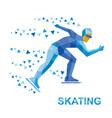 winter sports - skating skater running on white vector image vector image