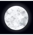 Abstract polygonal moon vector image