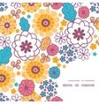 colorful oriental flowers frame corner vector image