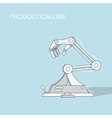 Robotic production line Manufacturing and vector image