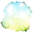 paper hole with spring background vector image