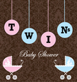 boy and girl baby shower invitation vector image vector image