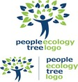 people ecology tree logo 1 vector image