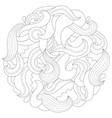 abstract wave mandala vector image