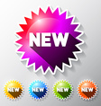 New Labels Set Colorful Stickers - Paper Tags vector image