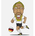 Soccer player German vector image