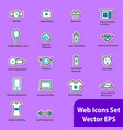 the set of flat icons for web sites vector image