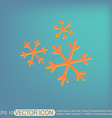 weather icon snowflake sign vector image