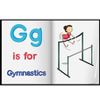 A picture of gymnastics in a book vector image vector image