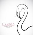 Flamingo design vector image vector image