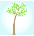 green tree on blue background vector image vector image