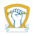 hand with clenched fist icon vector image