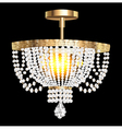crystal chandelier with modern vector image