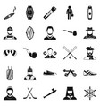 games icons set simple style vector image