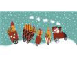 Cartoon Christmas train vector image vector image