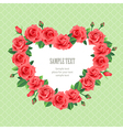 retro rose frame vector image