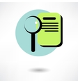 search concept with check list on clipboard and vector image vector image