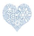 Snowy heart vector image