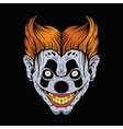 scary red clown vector image vector image