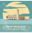 Kuwait Retro styled image Palace Arantar lakeside vector image