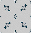 watches icon symbol Seamless pattern with vector image