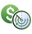 Money Locator Gradient Icon vector image