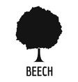 beech tree icon simple black style vector image