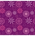 Christmas seamless pattern Light color snowflake vector image