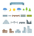City constructor icons set vector image