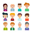 collection of cute avatars vector image