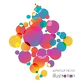 Colorful circles diamond vector image